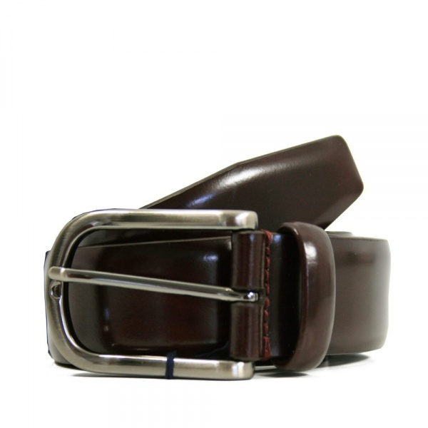 andersons s high shine burgundy leather belt