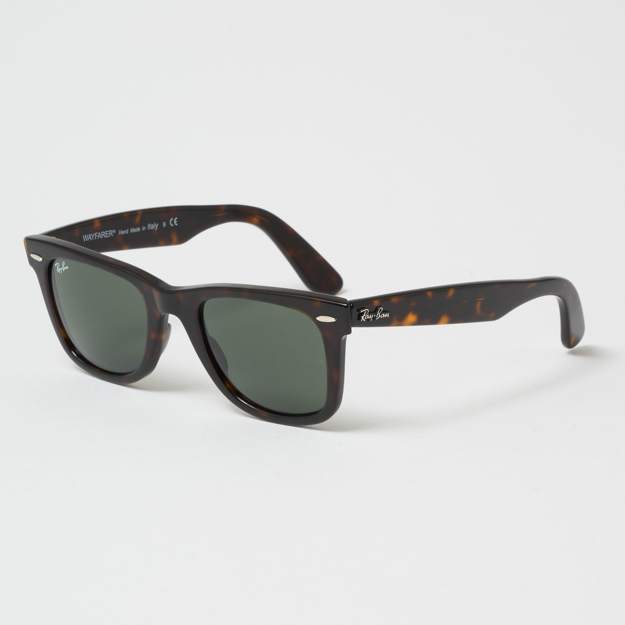 a9b7b6df4aa Ray-Ban. Men s Original Wayfarer Classic Sunglasses - Green Classic G-15  Lenses