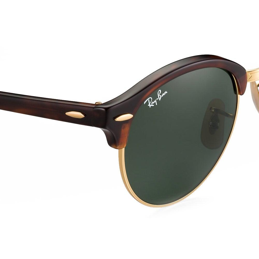 c7d7c4cafe Lyst - Ray-Ban Ray-Ban Clubround Tortoise Sunglasses Rb4246 990