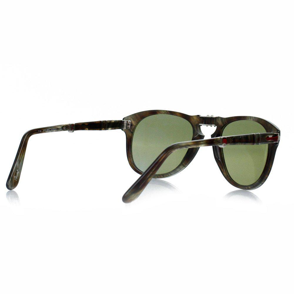 806e9131d63 Lyst - Persol Po0714 Tortoise Green Foldable Sunglasses 0Po0714 972 ...