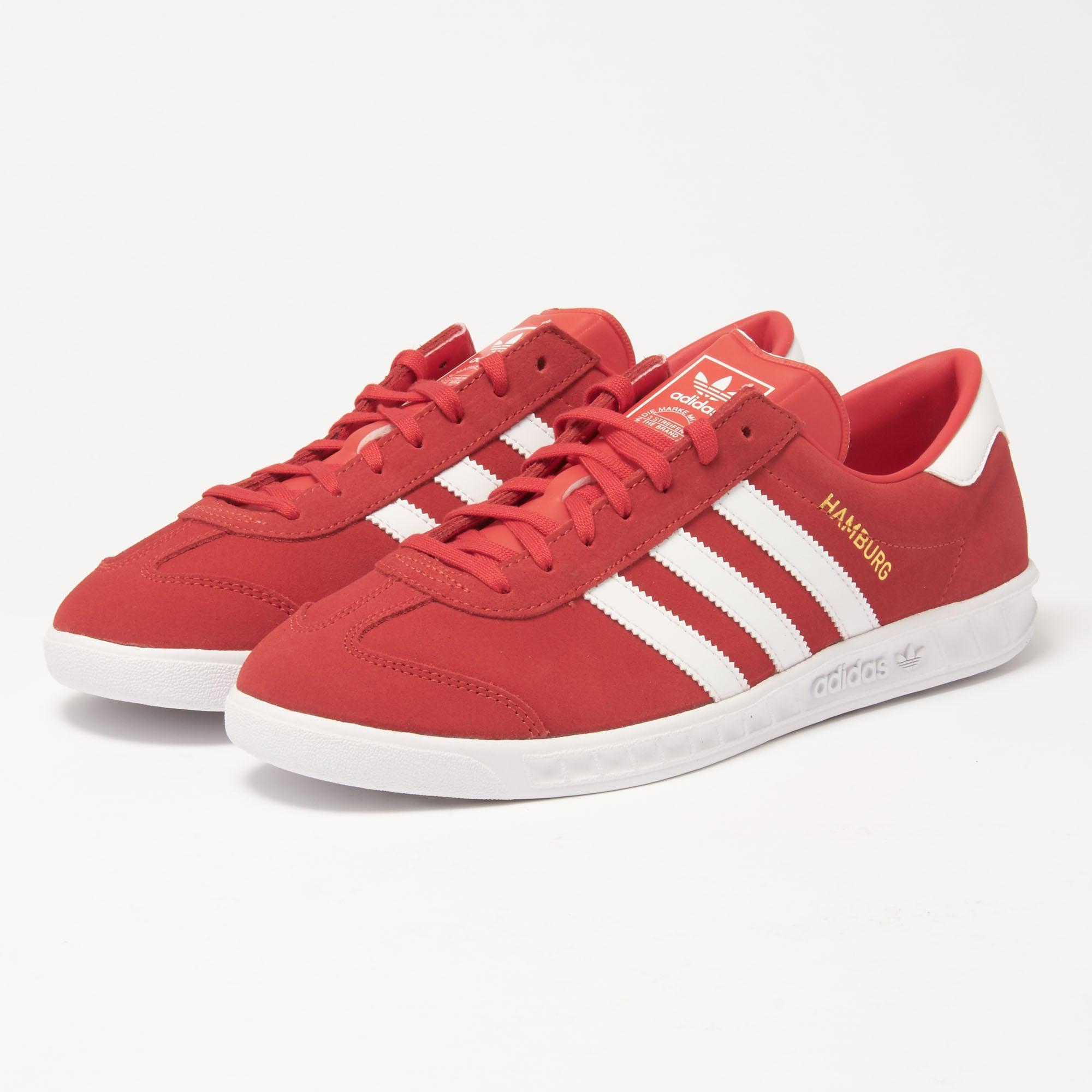 Adidas Originals Adidas Hamburgo zapatillas rojas en rojo para hombres salvar