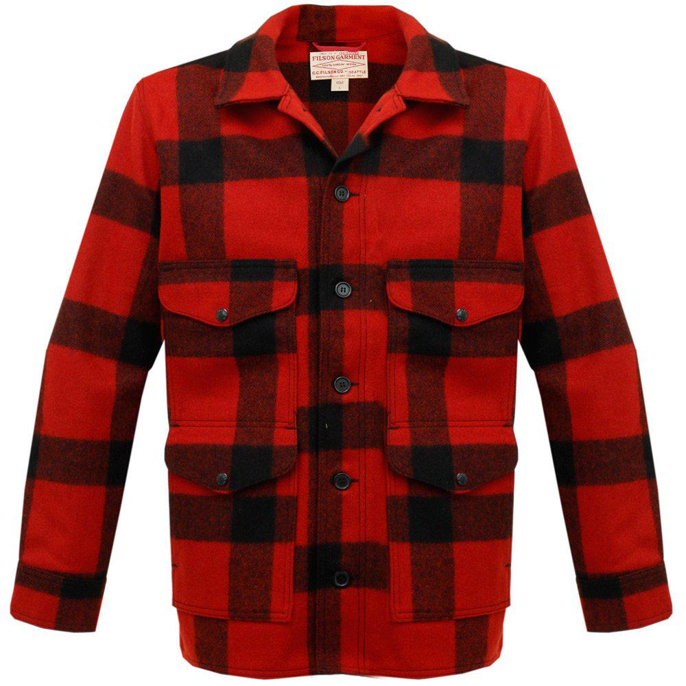 lyst filson mackinaw cruiser jacket in red for men save