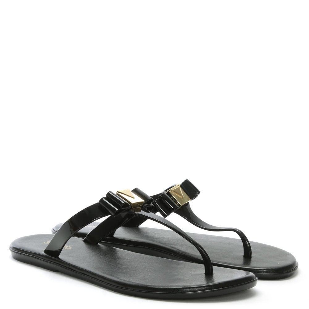 fab2e9261d0 Lyst - Michael Kors Caroline Black Jelly Sandals in Black - Save 26%