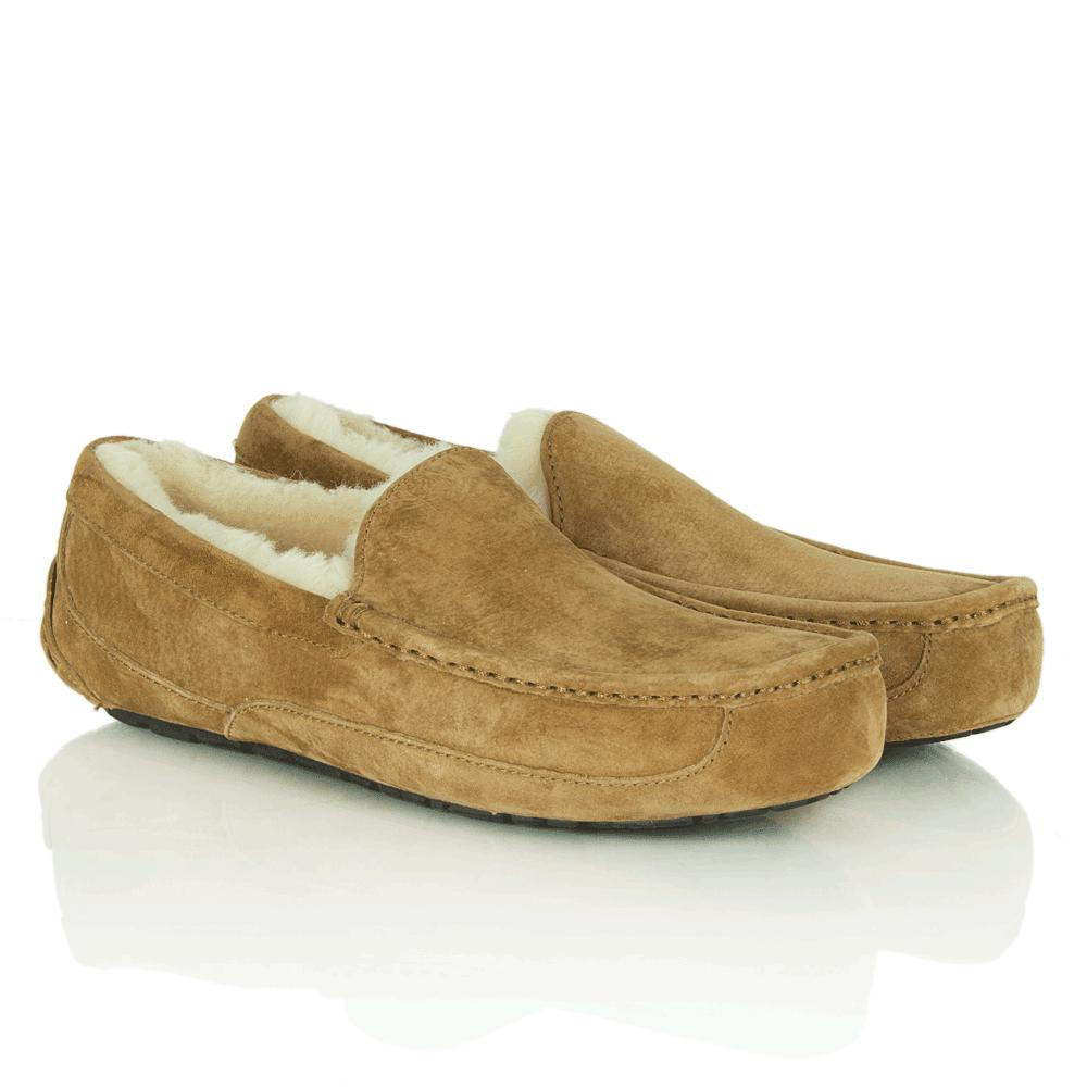d5db6730392 UGG Ascot Men'S Chestnut Slipper for Men - Lyst