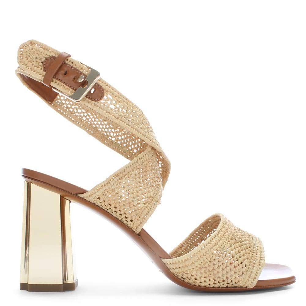 Zorap Raffia Block-Heel Sandals Robert Clergerie R4HZTQ