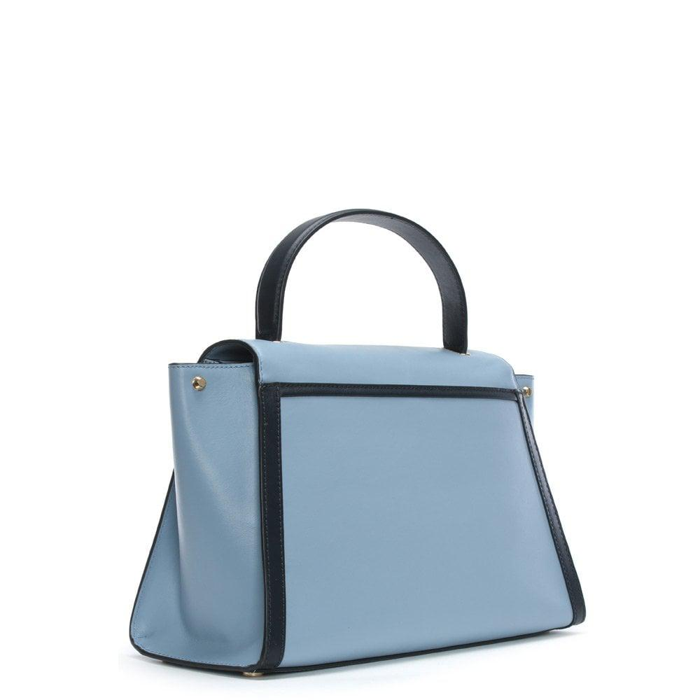 a37065253221 Michael Kors - Large Whitney Pale Blue & Admiral Leather Satchel Bag -  Lyst. View fullscreen
