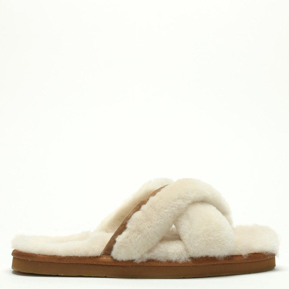 99d7b602398 Women's Abela Natural Sheepskin Slippers