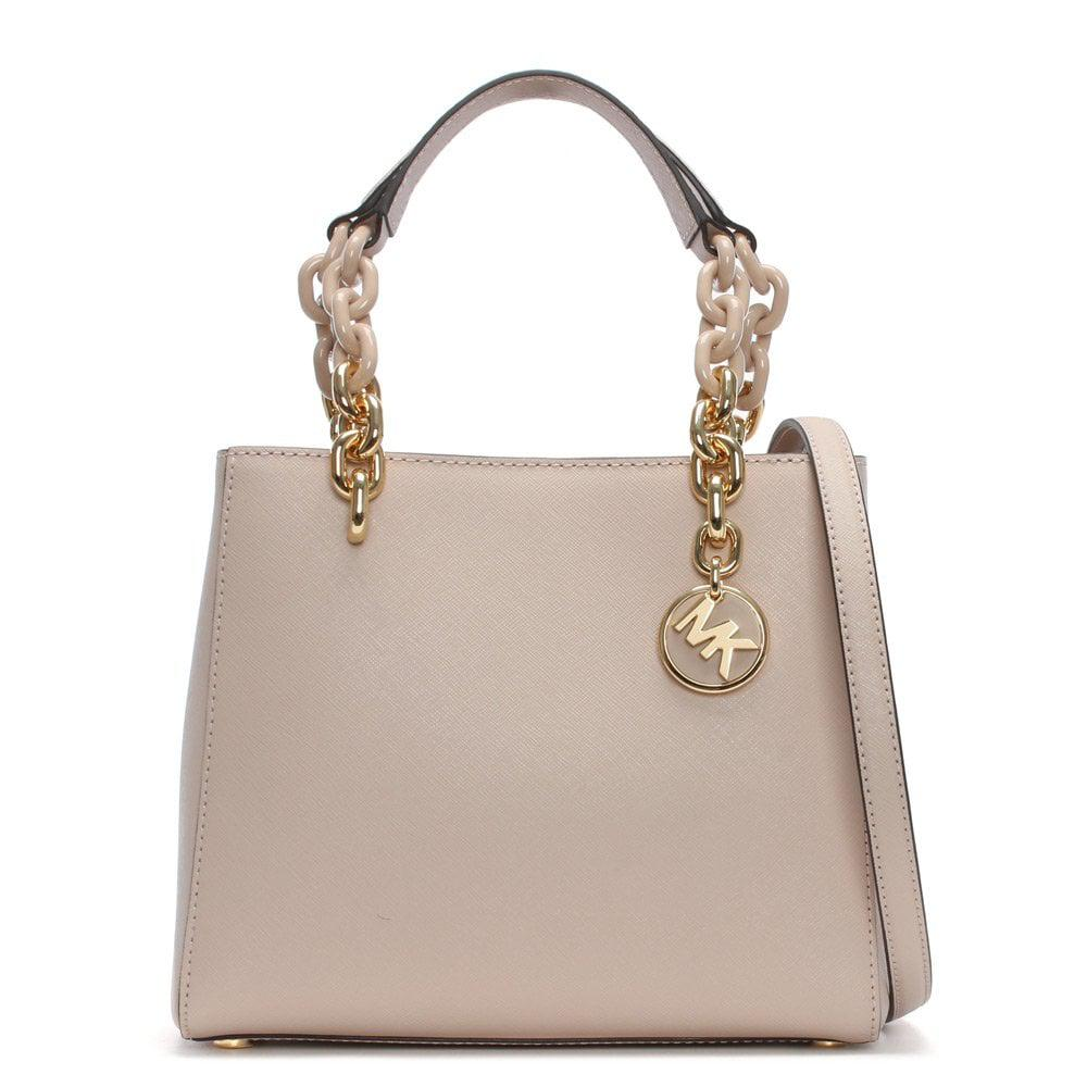 Michael Kors. Women s Small Cynthia North South Soft Pink Leather Satchel  Bag dfc1590c72ebe