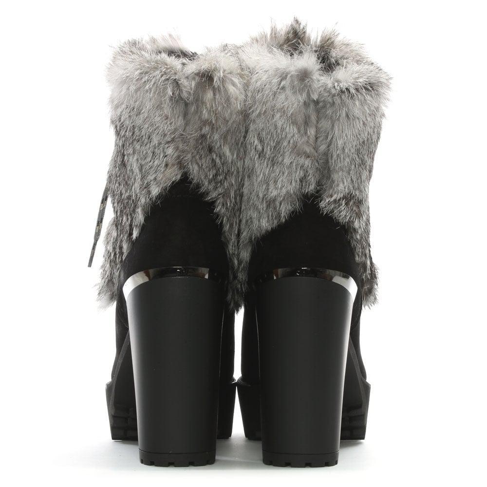 fashion Style sale online Stuart Weitzman Fur-Trimmed Leather Boots cheap sale outlet store clearance hot sale ijUrU