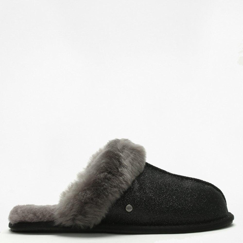 c1a18725c70 Lyst - UGG Women's Scuffette Ii Sparkle Black Slippers in Black