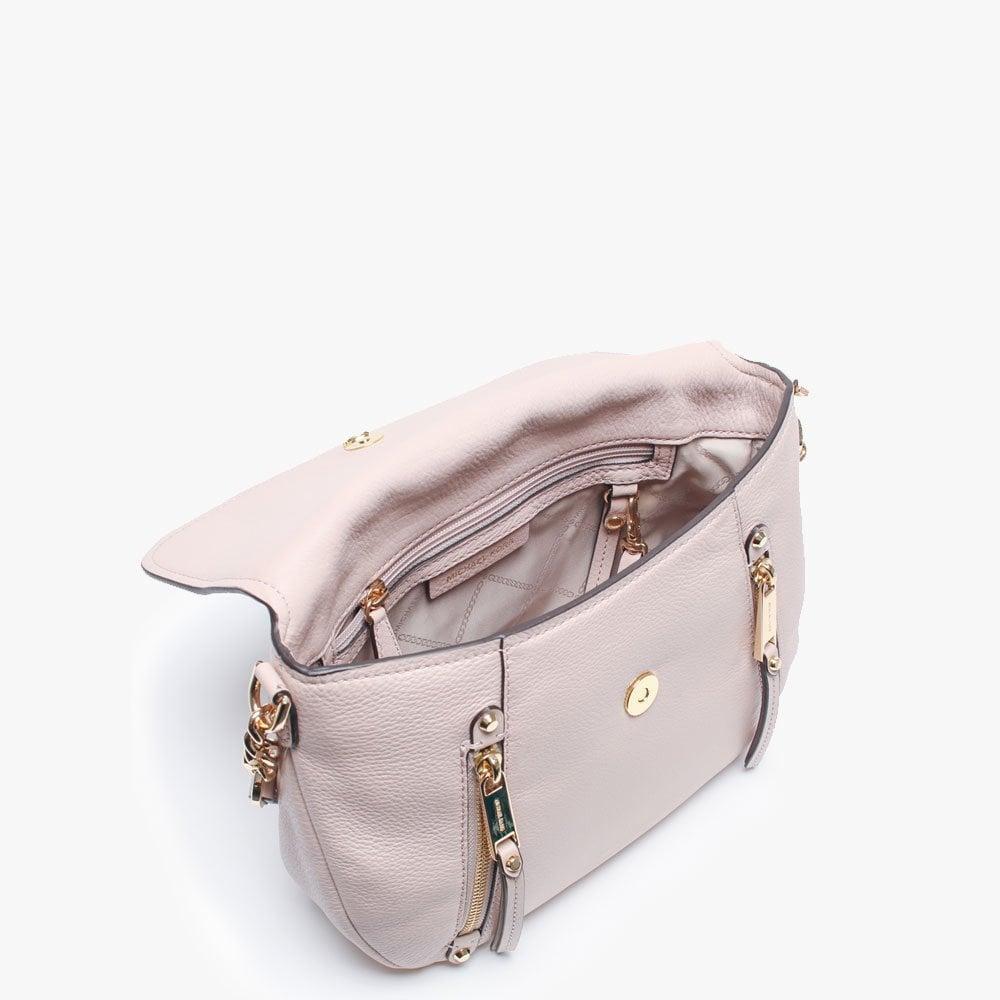 b9b9aa13a7d0 Michael Kors - Medium Evie Soft Pink Leather Shoulder Bag - Lyst. View  fullscreen