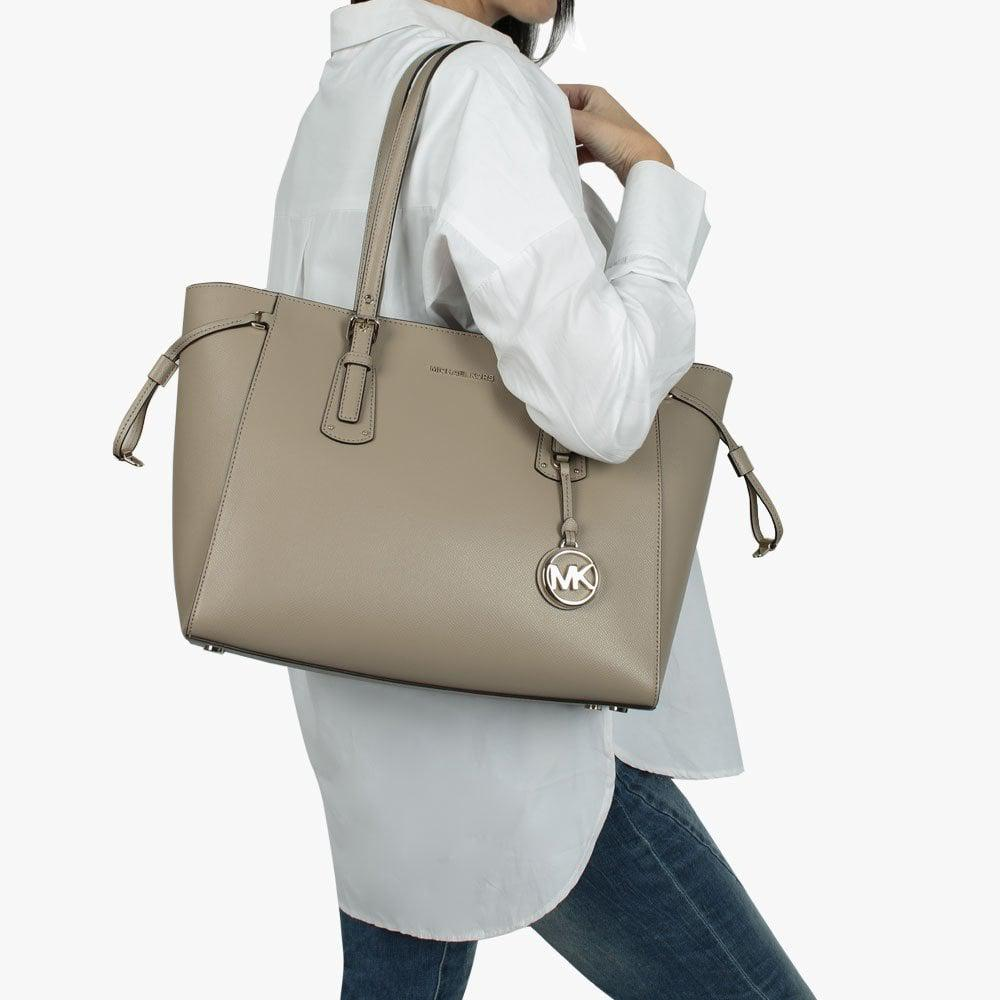 e30ab04a6a5bc1 Michael Kors - Multicolor Voyager Truffle Saffiano Leather Tote Bag - Lyst.  View fullscreen