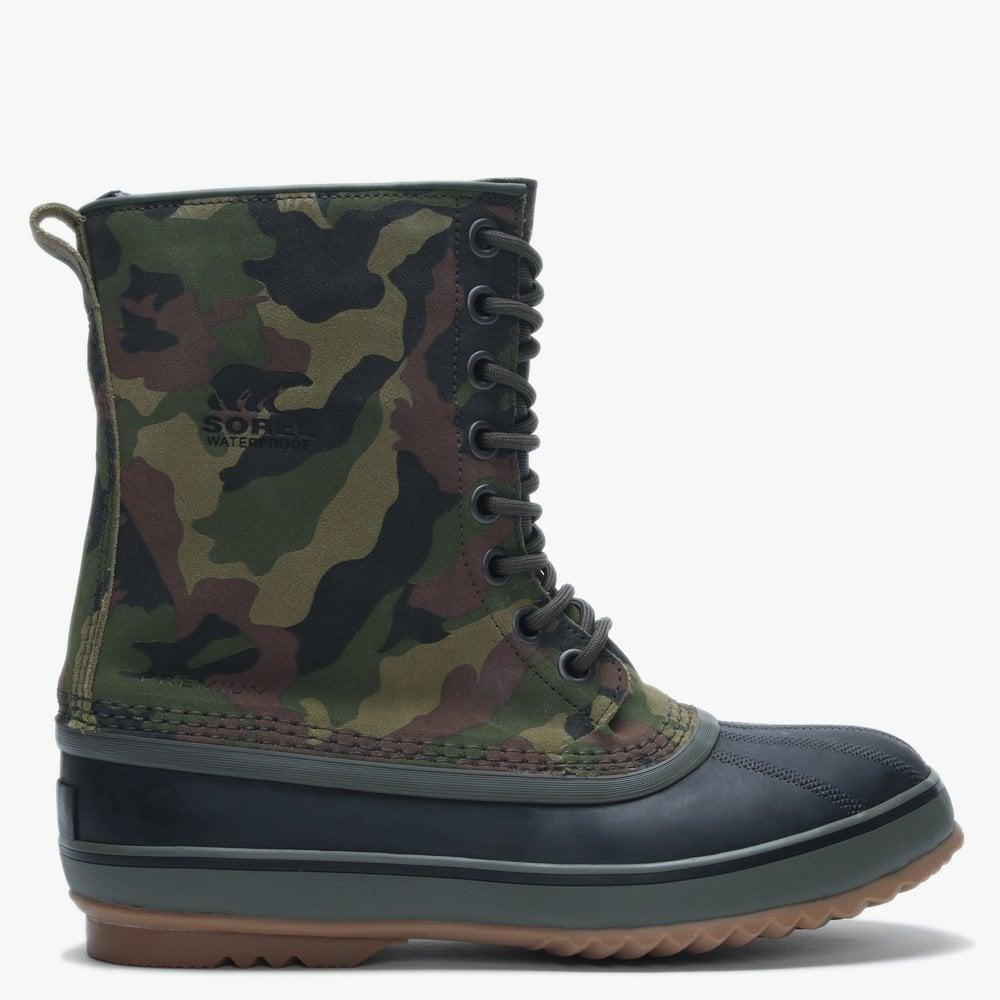 40e36dde0cded Sorel Men's 1964 Premium T Camo Alpine Tundra & Black Leather Ankle ...