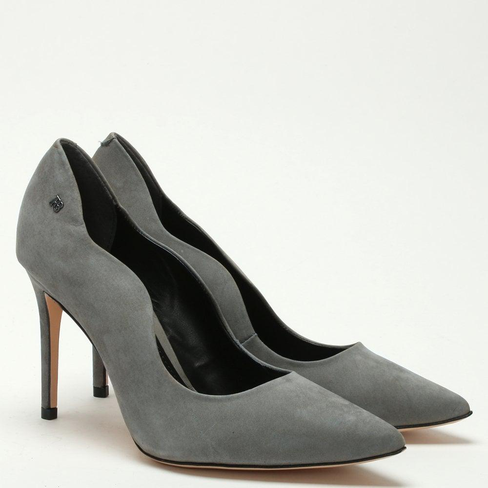 3518d415e1c Lyst - Daniel Footwear Grey Suede Scalloped Toe Line Court Shoes in Gray