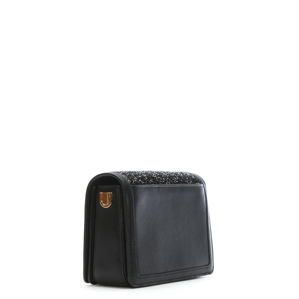 48ec6752b888b Michael Kors Jade Black Leather Embellished Clutch Bag in Black - Lyst