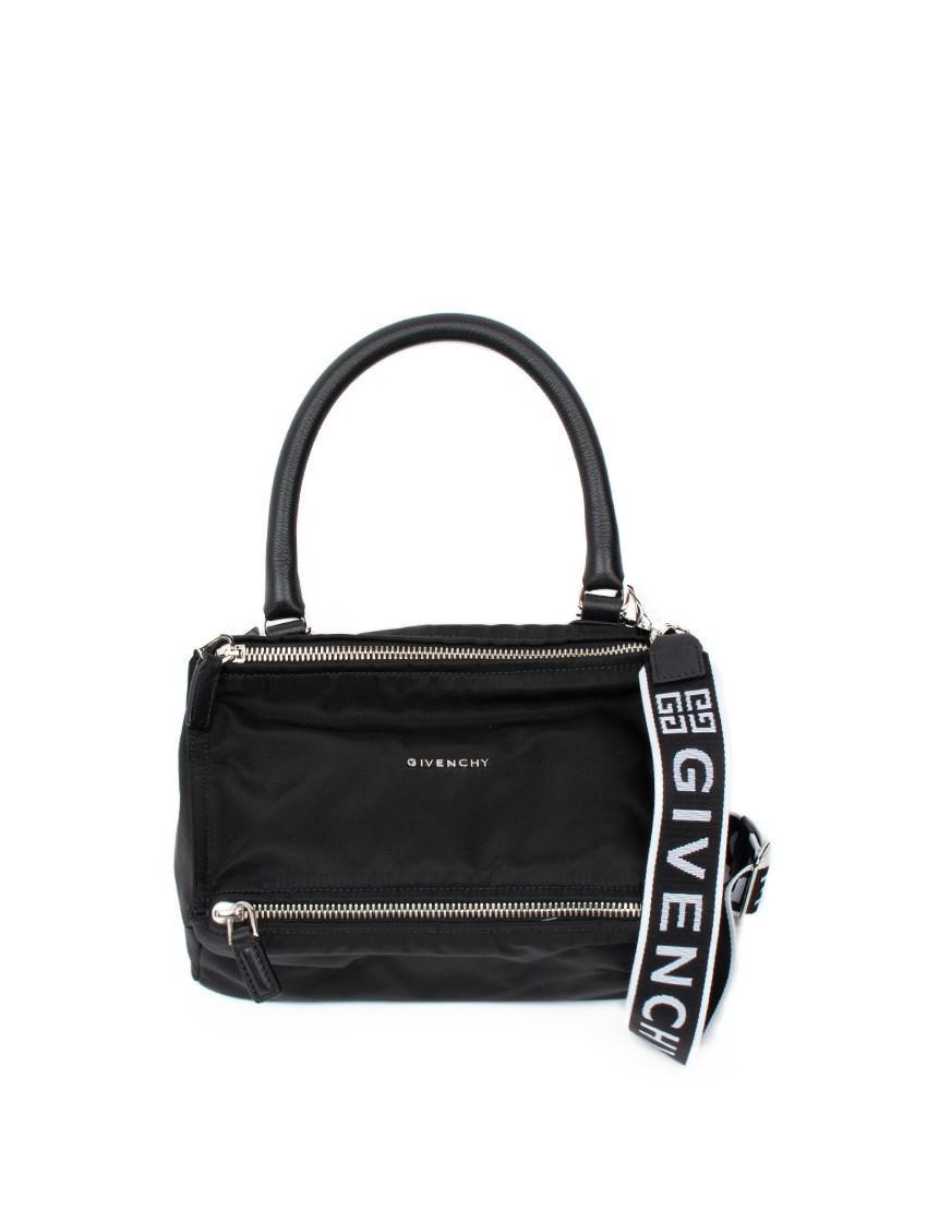 ef98024caf Givenchy 4g Small Pandora Bag In Nylon in Black - Lyst