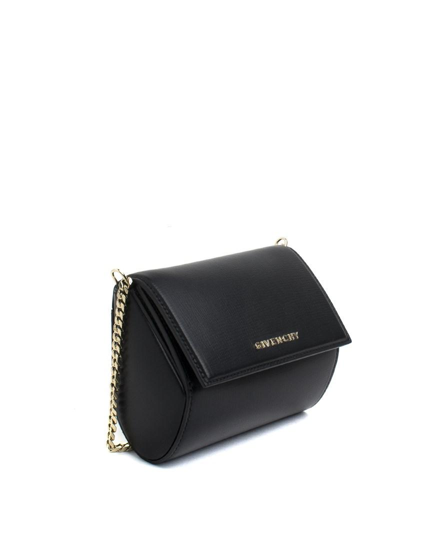 43e3a15690 Givenchy Pandora Box Micro Leather Clutch Bag - Lyst
