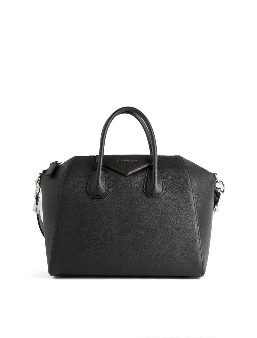Givenchy  antigona  Medium Black Leather Bag in Brown - Lyst f6805ef14a