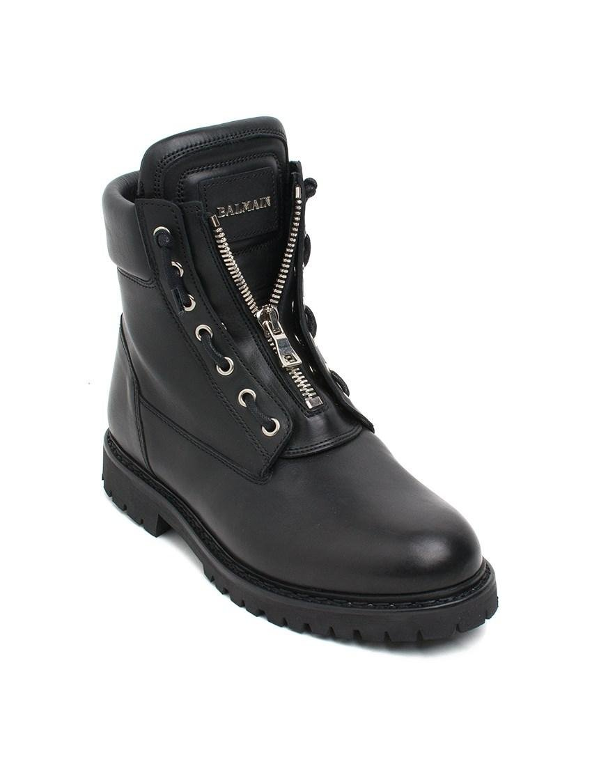 Balmain Taiga Ranger Boots In Black For Men Lyst