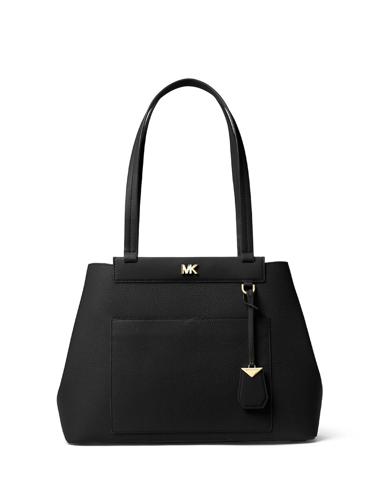 0ec90080df5a1f Michael Kors Meredith Medium Pebbled Leather Tote in Black - Lyst