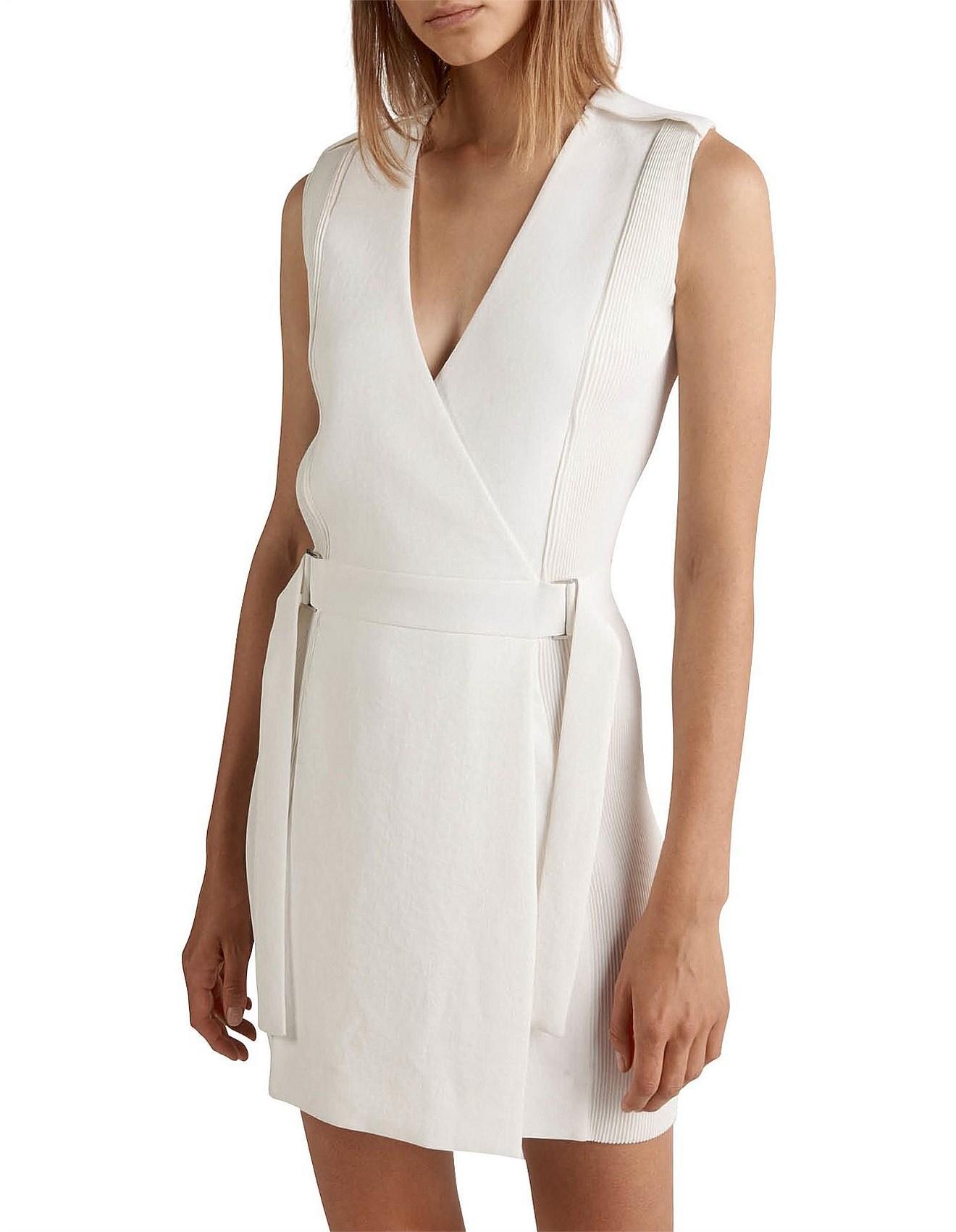b428c0d9b0 Dion Lee Corrugated Pleat Mini Dress in White - Lyst