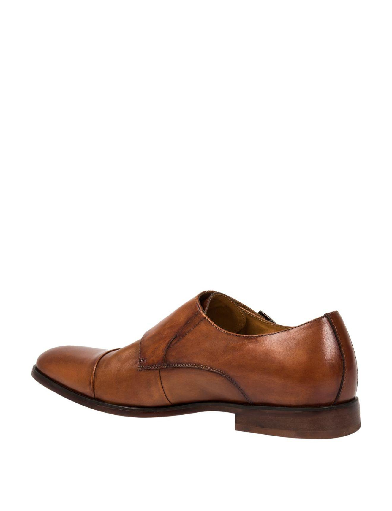 eaaa12e586907 David Jones Leather Double Monk Strap Shoes in Brown for Men - Lyst