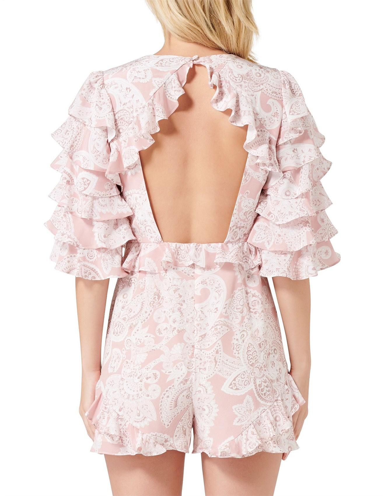 1f038724f7f Thurley - Pink Gia Ruffle Playsuit - Lyst. View fullscreen