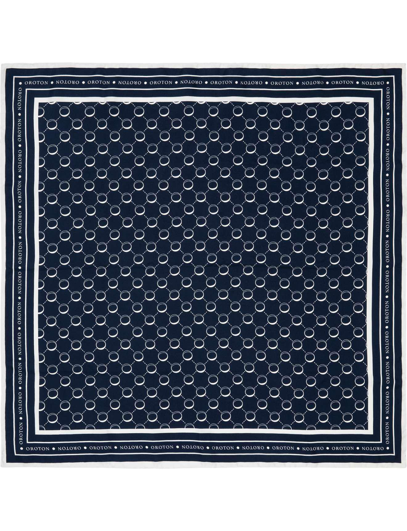 oroton signature silk scarf 70x70 in blue lyst