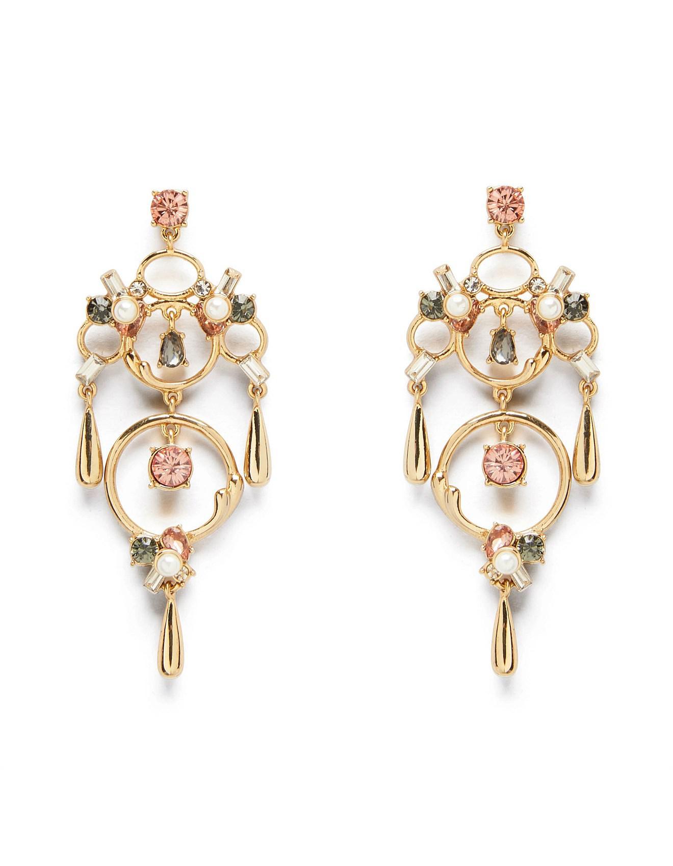 63f709f62 Mimco Waterfall Drop Earrings in Metallic - Lyst