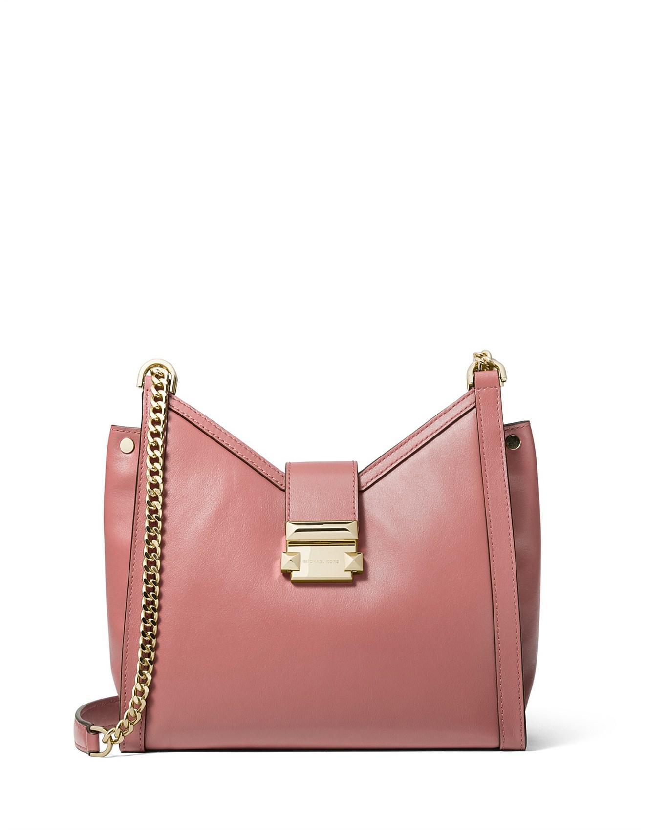 0efca355701e Michael Kors. Women s Whitney Small Leather Chain Shoulder Bag