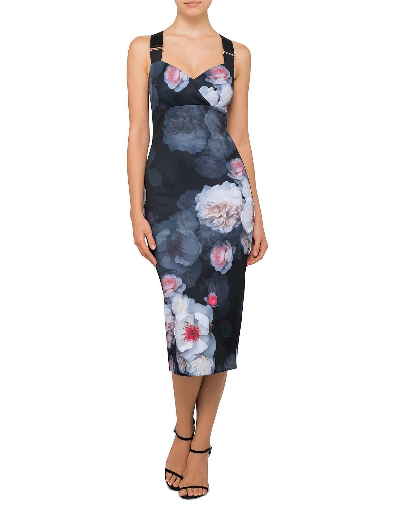 44e99e6a7896b9 Ted Baker Teeki Chelsea Print Bodycon Dress in Black - Lyst