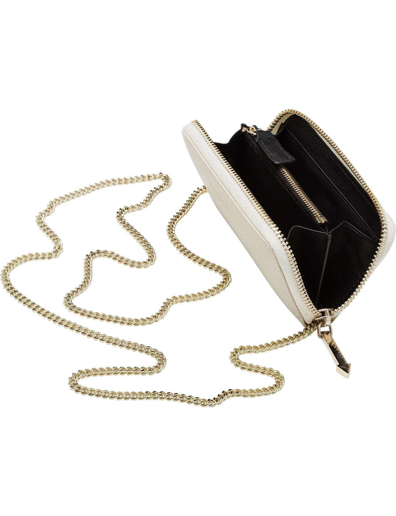 70383608e76 Karen Walker Cara Coin Purse-chain Strap in Natural - Lyst