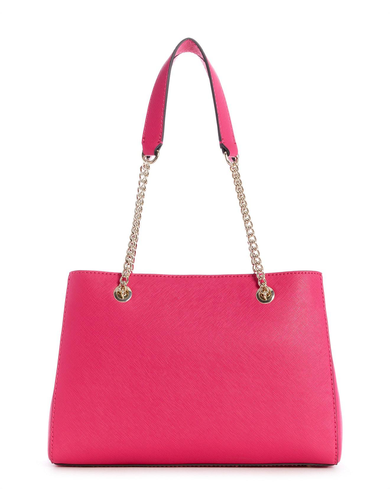 Guess Robyn Girlfriend Satchel in Pink - Lyst bd97774a53369