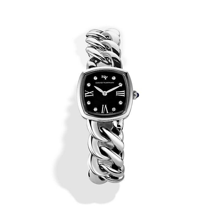 david yurman womenu0027s metallic albion 23mm stainless steel quartz watch with diamonds