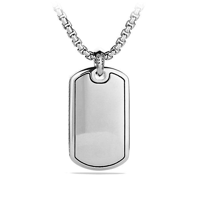 David Yurman Exotic Stone Ingot Enhancer onyx tag - Metallic SoGLkbn2