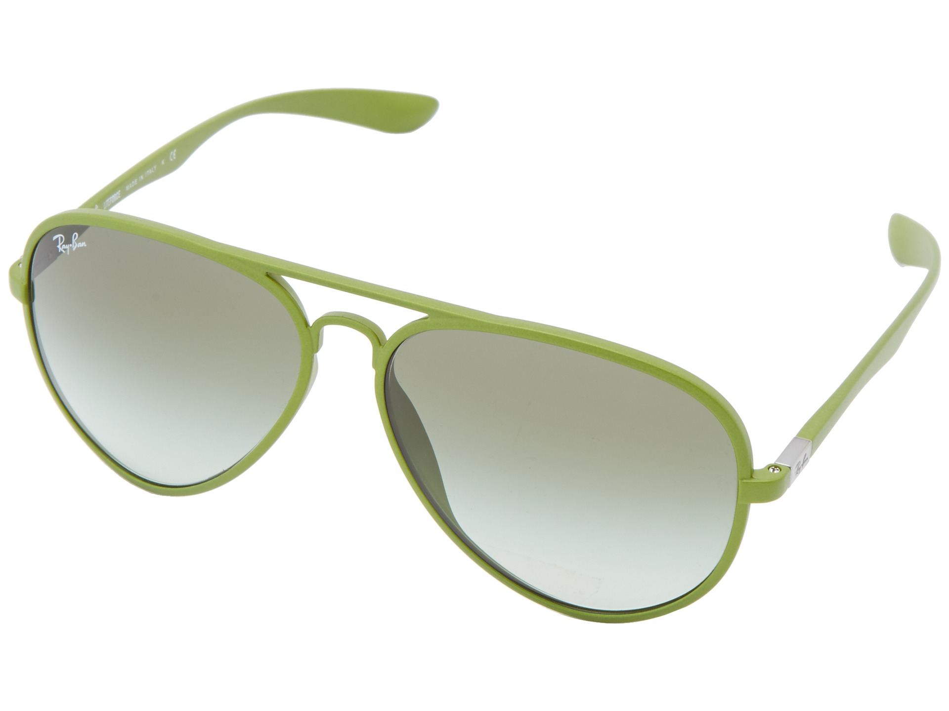 f065b71965d Lyst - Ray-Ban Rb4180 Aviator Tech Liteforce 58Mm in Green for Men