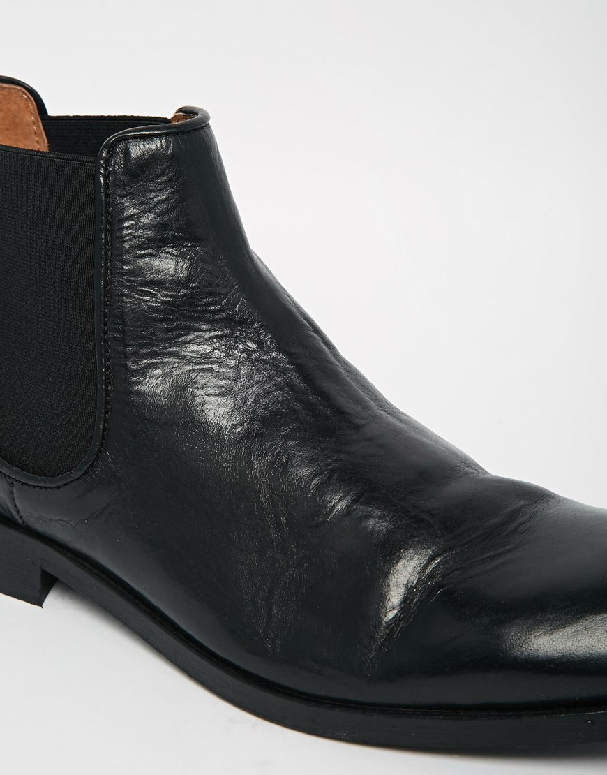 selected homme antonio chelsea boots in black for men lyst. Black Bedroom Furniture Sets. Home Design Ideas
