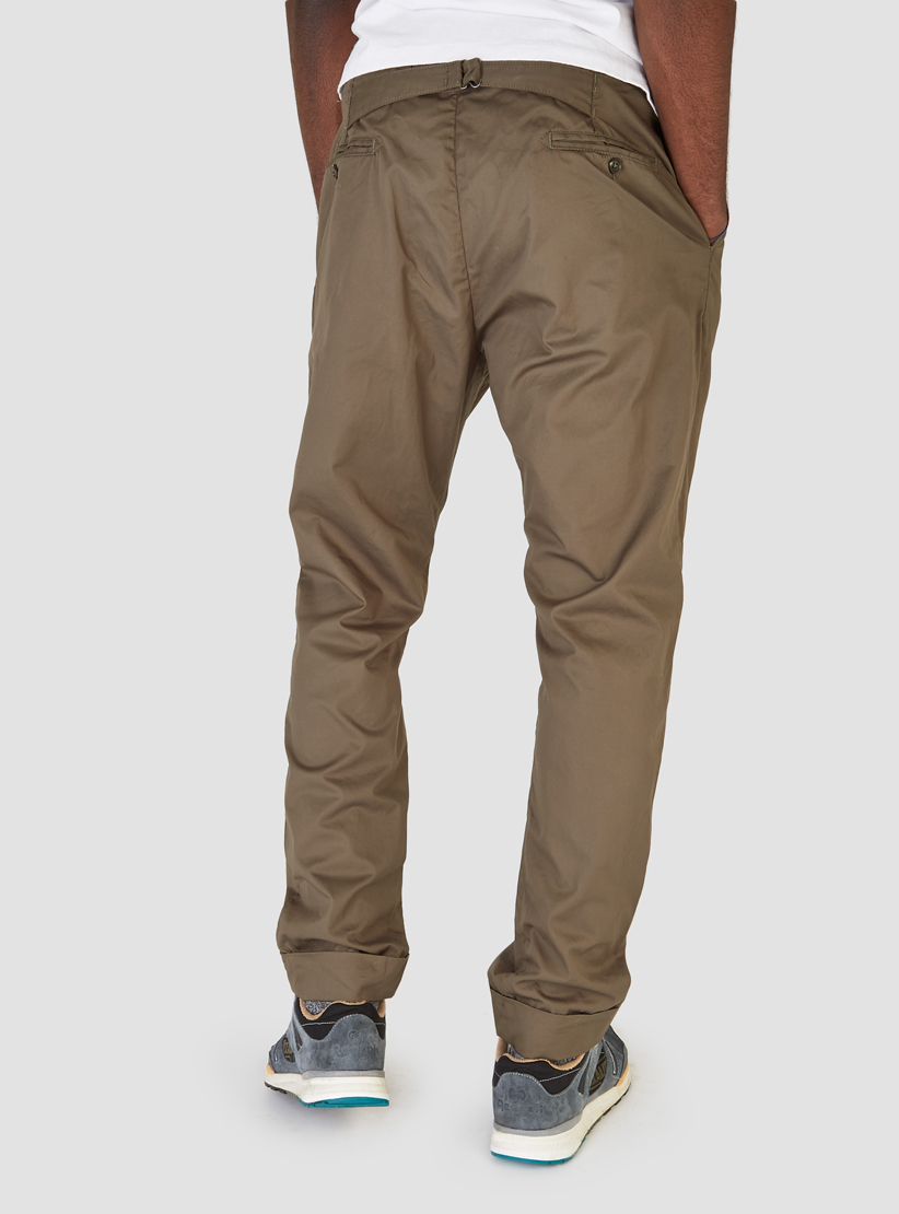 Lyst Engineered Garments Willy Post Pant Olive Twill In