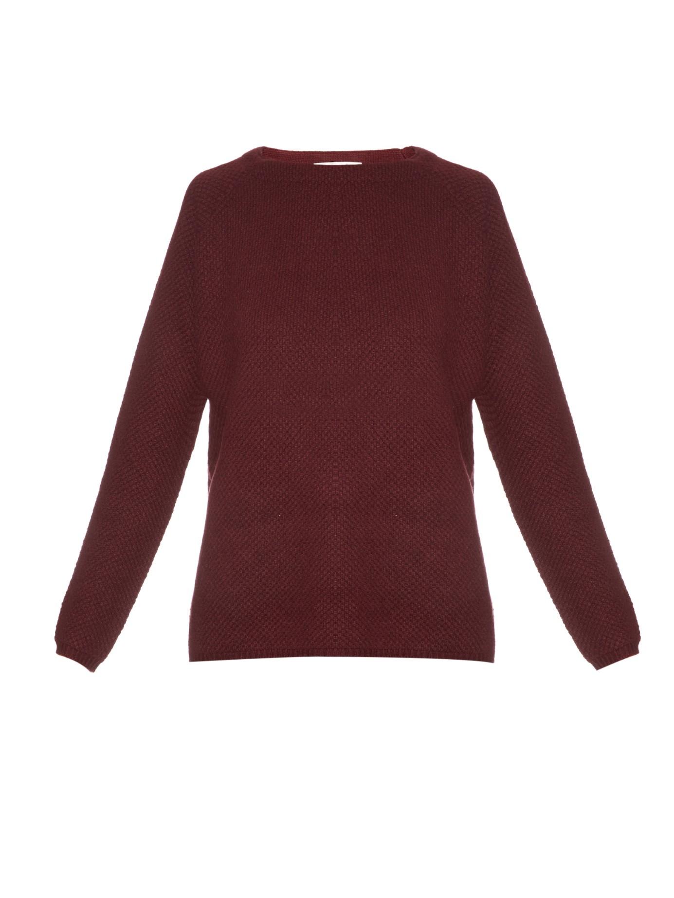 Goat Alice Waffle-knit Cashmere Sweater in Purple | Lyst