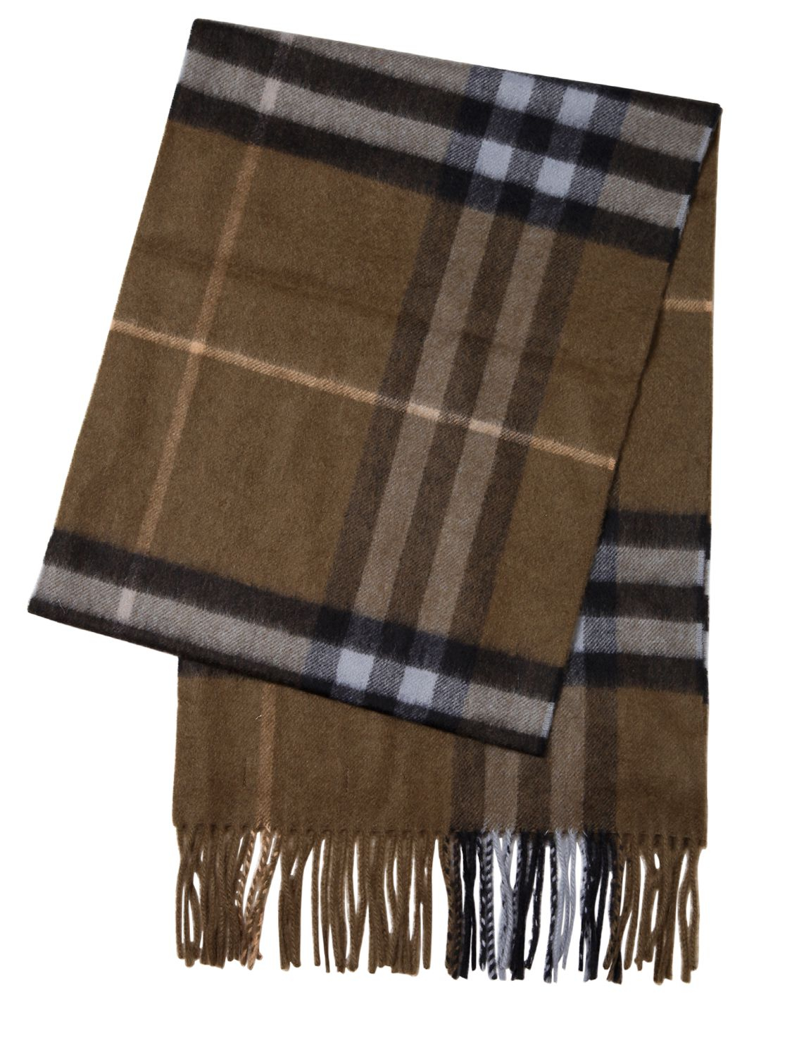 Knitting Pattern Burberry Scarf : Burberry Giant Check Pattern Cashmere Scarf in Natural for Men Lyst