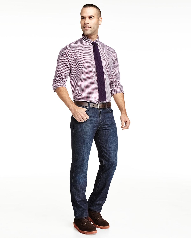 Neiman marcus classic fit non iron checkered dress shirt for Men s no iron dress shirts