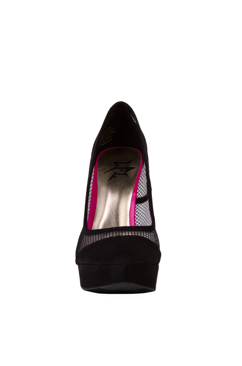 Dkny Black Mesh Bow Shoes