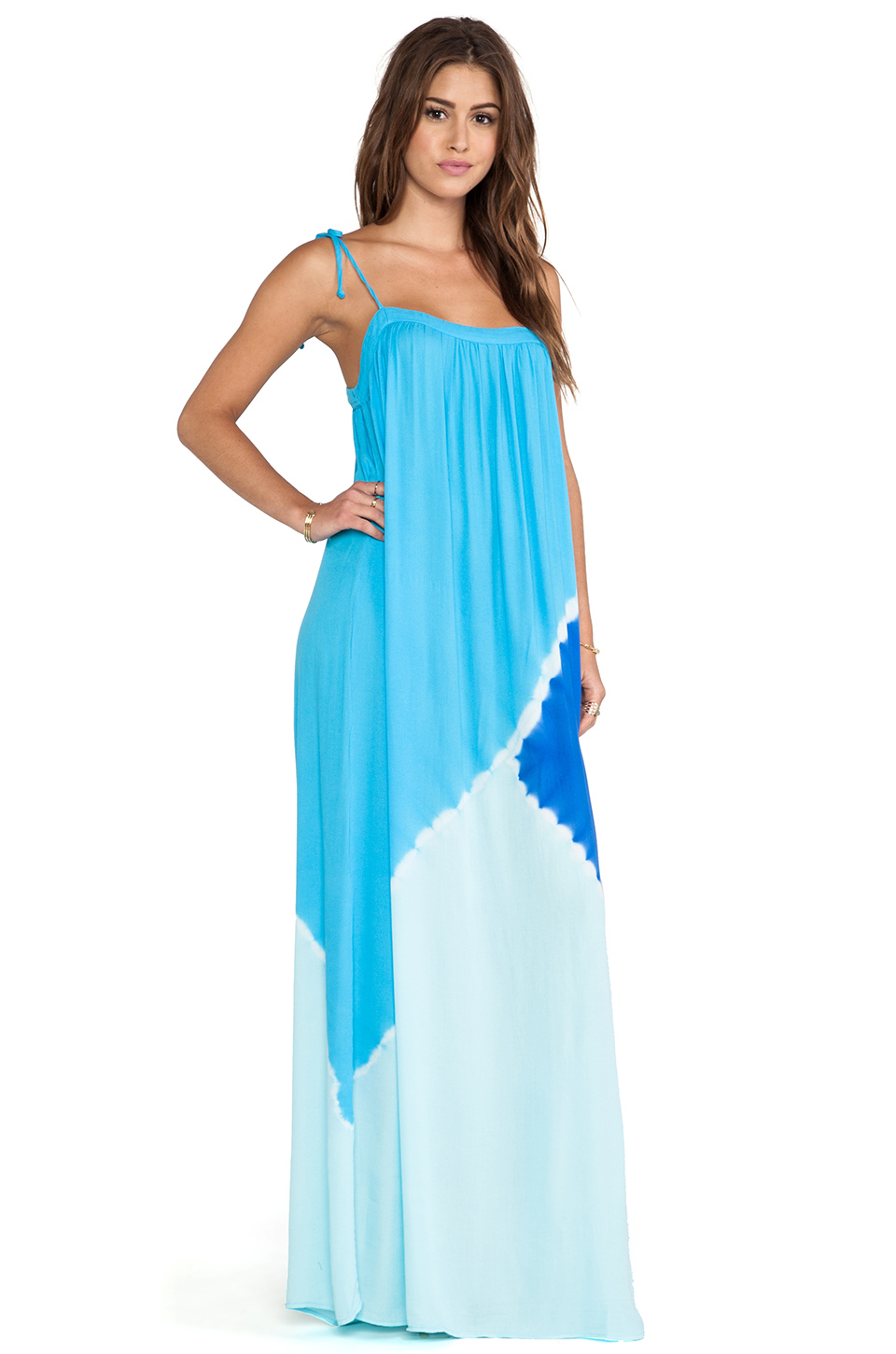 Lyst Young Fabulous Amp Broke Butter Maxi Dress In Blue
