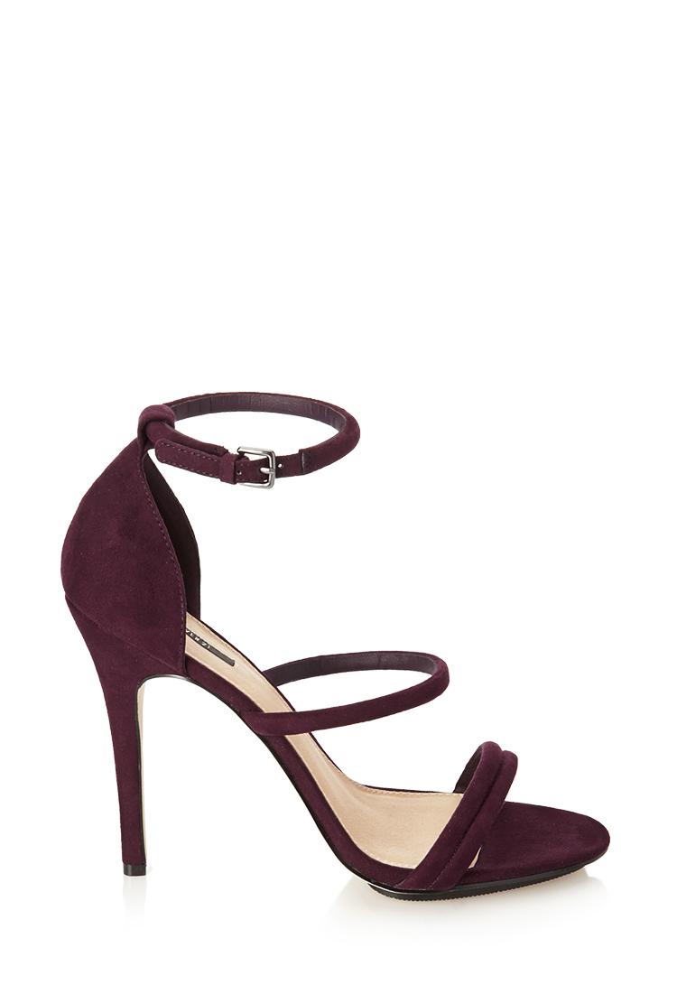 Purple Strappy Sandals Heels