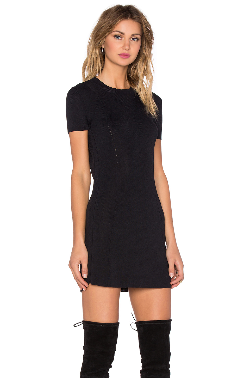 Osklen Short Sleeve Mini Dress in Black | Lyst