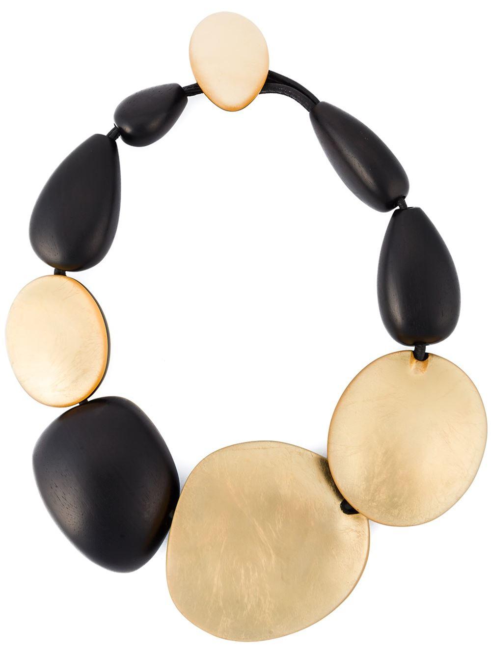Monies oversized beads necklace - Black sYfksrZ