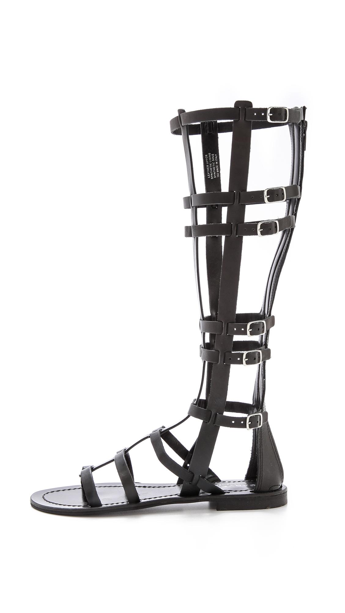 73e5ad69042d3 Lyst - Carvela Kurt Geiger Krown Tall Gladiator Sandals Tan in Black