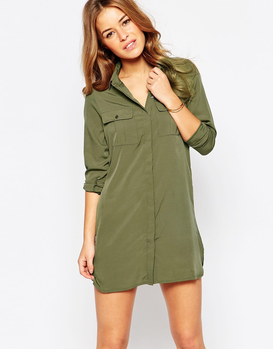 Vero Moda Casual Short Sleeved Dress Women Green For Sale Cheap Authentic For Nice For Sale Authentic For Sale Buy Cheap Online Clearance Footaction w4BAE2jyy8