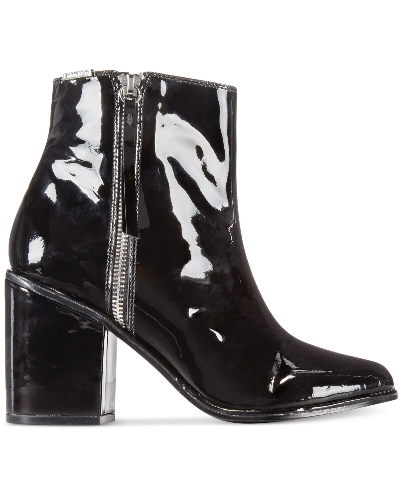 8370fc65d05d Calvin Klein Black Leather Ankle Boots - Best Picture Of Boot ...