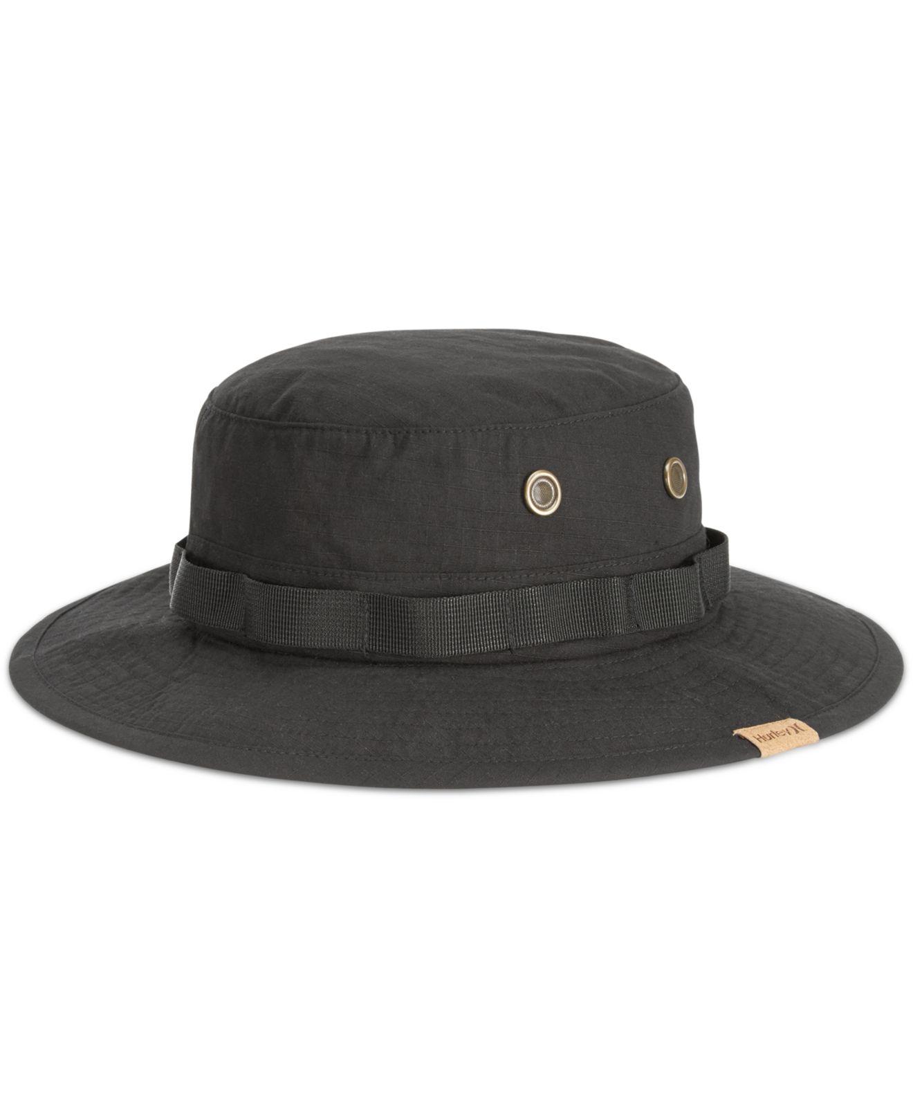 cd61ffdd8650d ... discount code for lyst hurley safari bucket hat in black for men abef2  79b4d